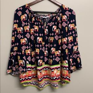 Crown and Ivy Elephant Blouse